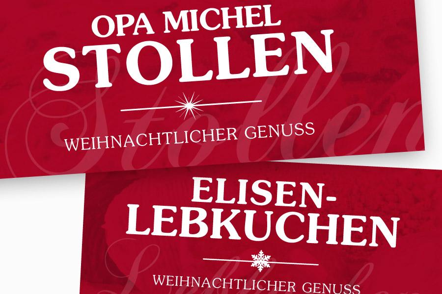 Opa Michel Stollen und Elisenlebkuchen von Bäcker Frank