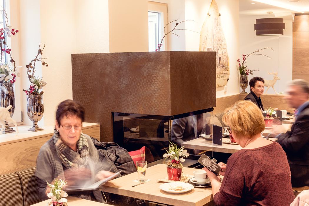 Café der Bäckerei Frank in Riedenburg